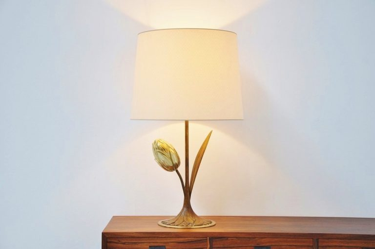 Willy Daro Attributed tulip lamp Belgium 1970