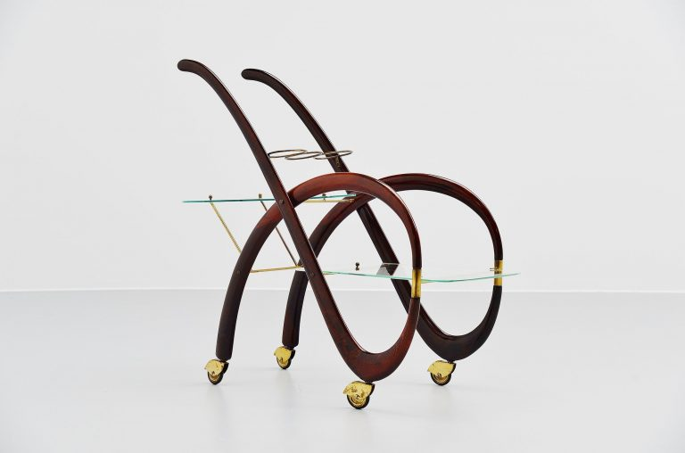 Gaetano Pizzi bar cart Italy 1950