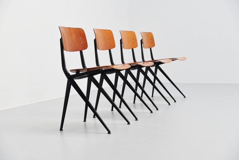 Marko dining chairs industrial design Holland 1970