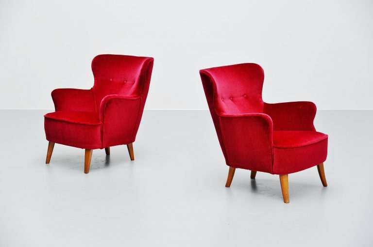 Pair of Theo Ruth lounge chairs Artifort 1955