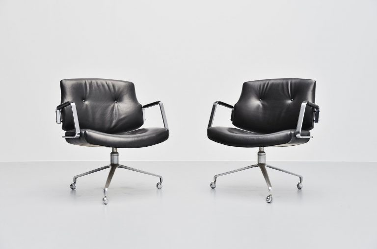Jorgen Kastholm Preben Fabricius FK84 swivel desk chair 1968
