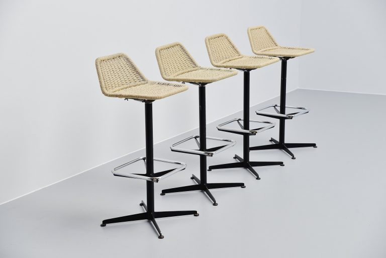 Dutch modernist bar stools Rohe Noordwolde 1960