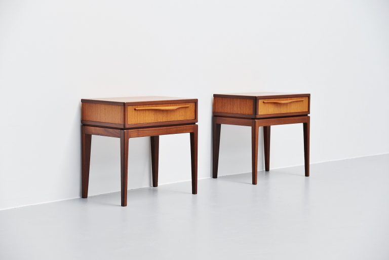Danish teak night cabinets Denmark 1960