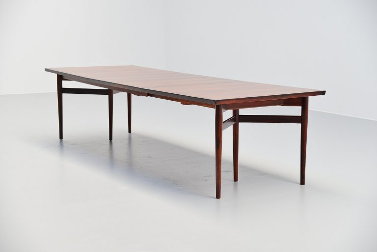 Arne Vodder long dining table Sibast Mobler Denmark 1960