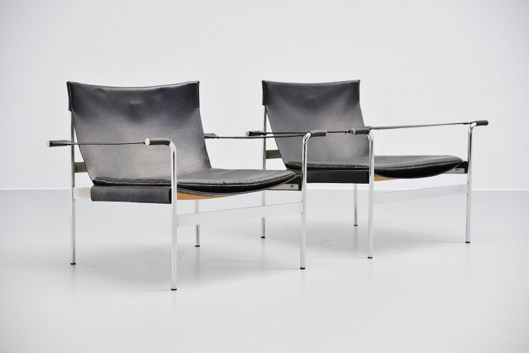 Hans Könecke Tecta lounge chairs pair Germany 1965