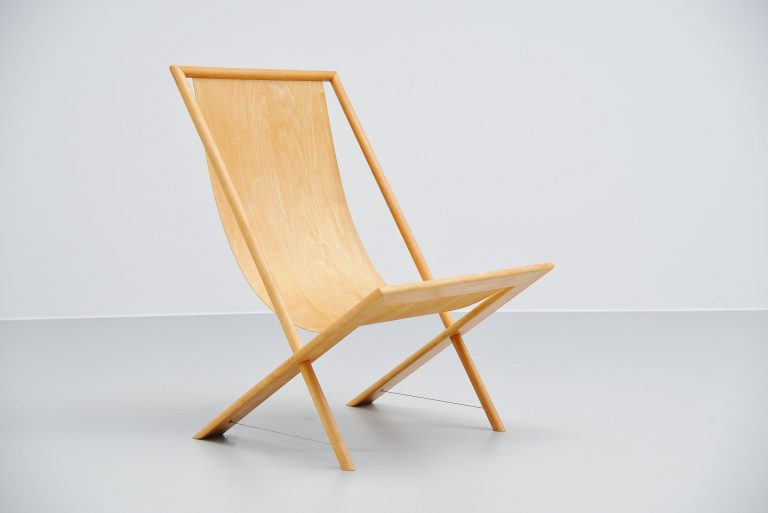 Frits Swart unique lounge chair in plywood 1979