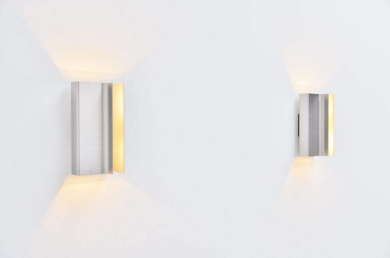 Pierre Vandel Raak sconces Architraaf Holland 1972