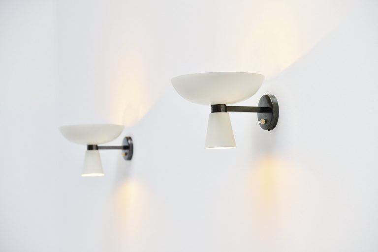 Stilnovo diabolo wall lamps Italy 1950