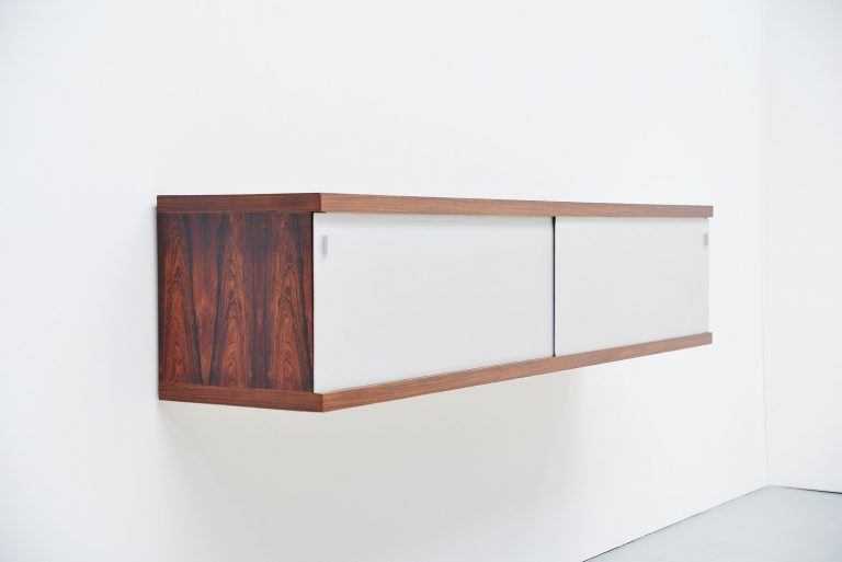 Horst Bruning wall mounted sideboard Behr Germany 1960