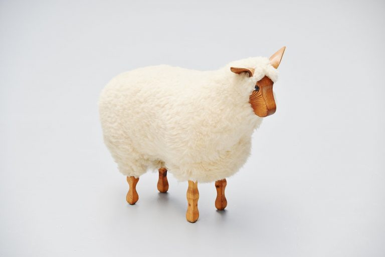 Decorative sheep stool in the manner of Francois Xavier Lalanne