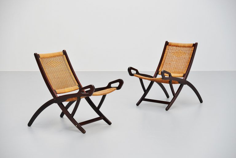 Gio Ponti Ninfea folding chairs Fratelli Reguitti Italy 1958