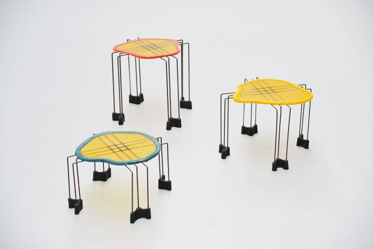 Gaetano Pesce nesting table set Fish Design Italy 1990