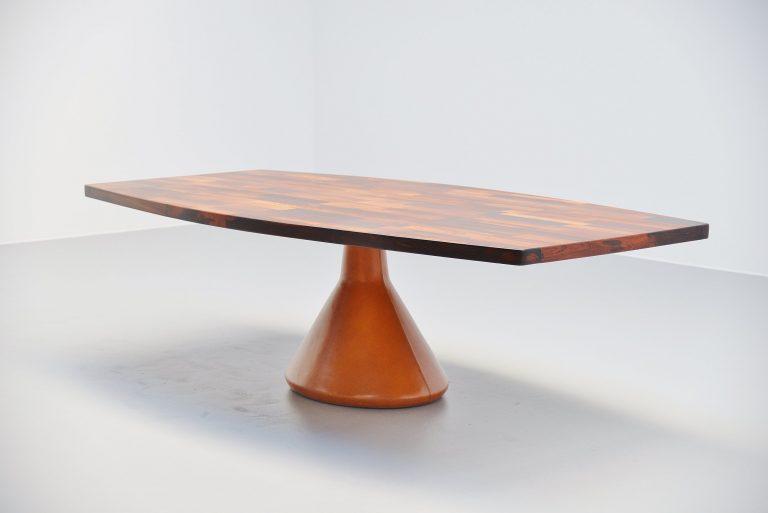 Jorge Zalszupin Guanabara pedestal dining table Brazil 1960