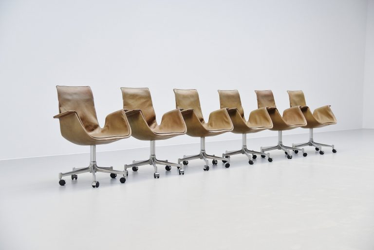 Preben Fabricius Jorgen Kastholm FK6727 bird office chairs 1964