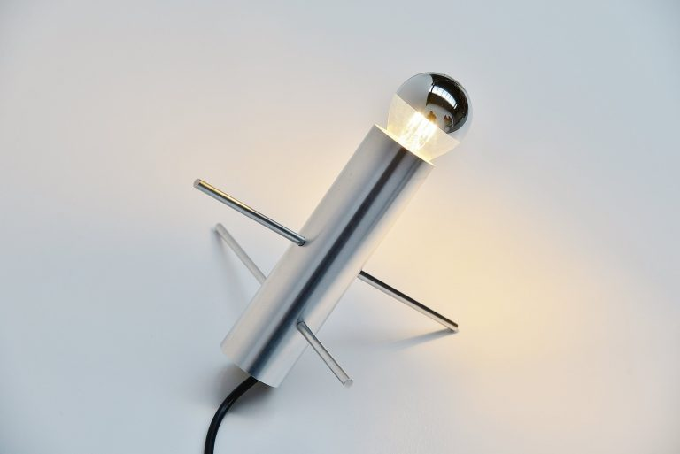 Otto Wach cricket lamp by Raak Amsterdam Holland 1960