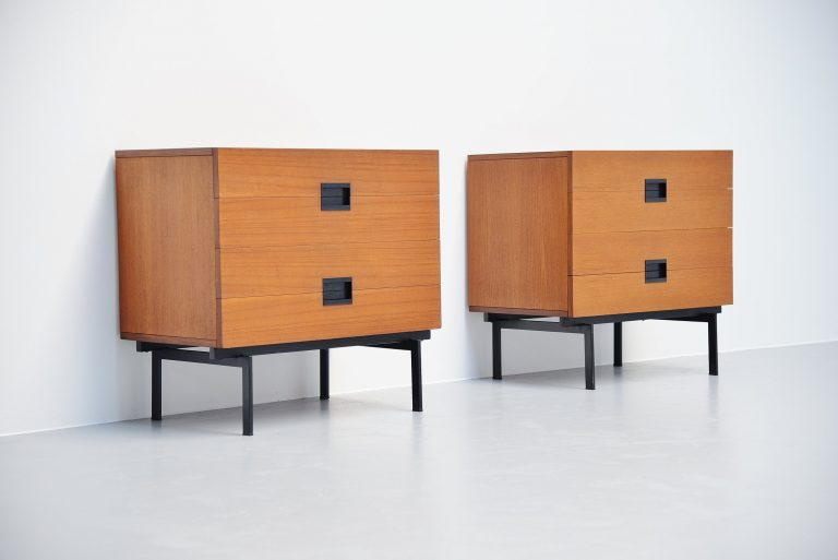 Pastoe DU10 drawer cabinets by Cees Braakman 1958