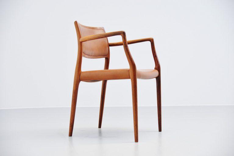Niels Moller model 65 rosewood armchair Denmark 1968
