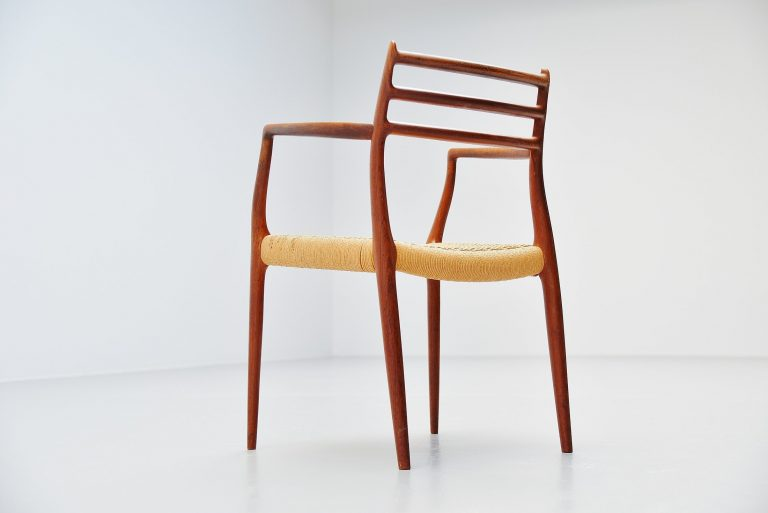 Niels Moller model 62 armchair in teak Denmark 1962