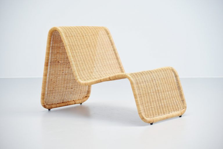 Tito Agnoli P3 lounge chair in cane Bonacina Italy 1962