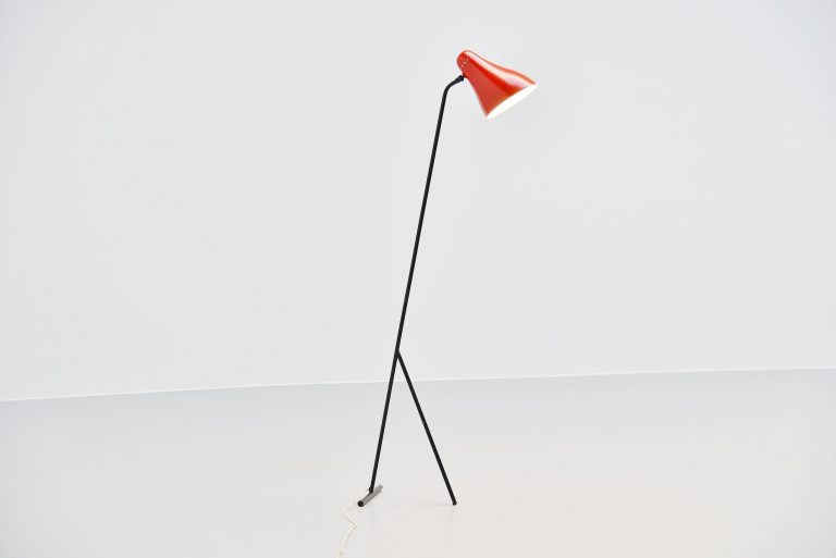 JJM Hoogervorst Anvia floor lamp Holland 1955