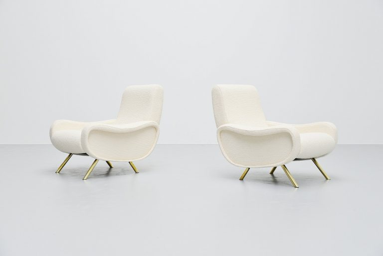 Marco Zanuso lady chairs pair Arflex Italy 1951