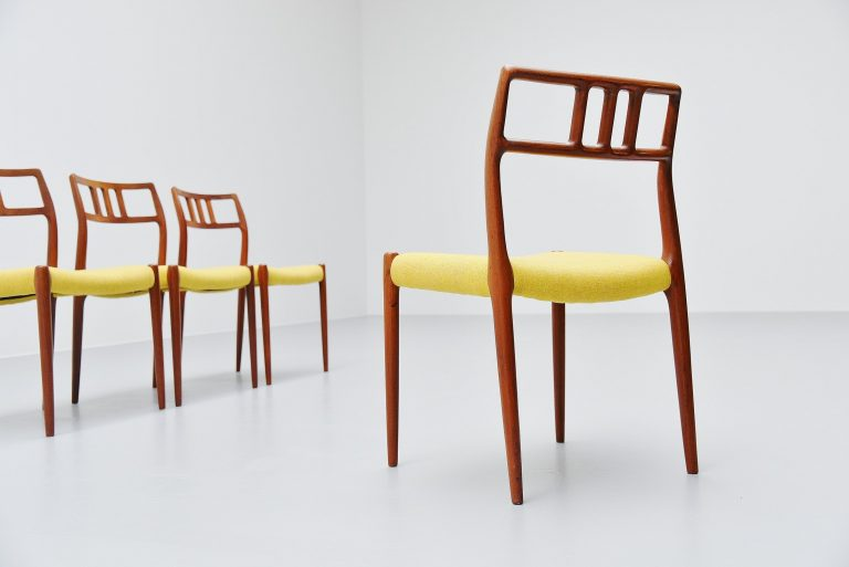 Niels Moller model 79 teak chairs 12x Denmark 1966