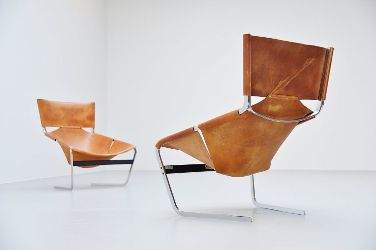Pierre Paulin pair F444 lounge chairs Artifort 1963