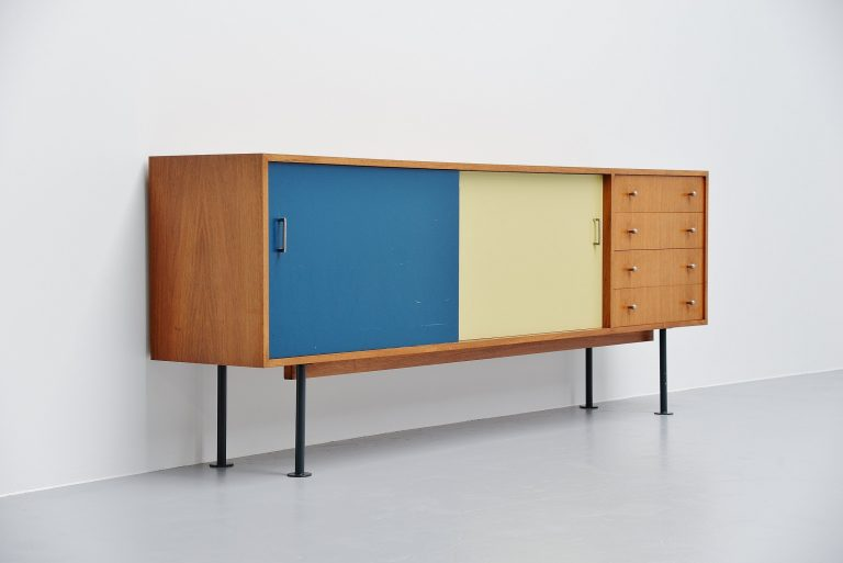 French modernist sideboard forme libre France 1950