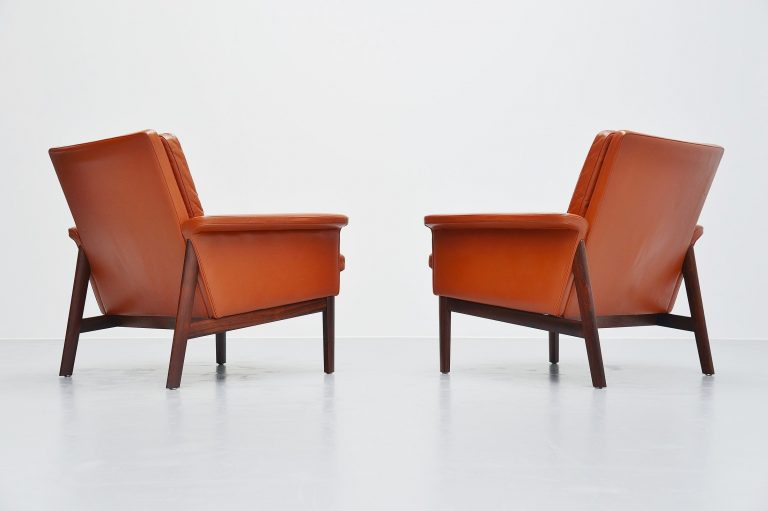 Finn Juhl Jupiter lounge chairs France and Son Denmark 1965