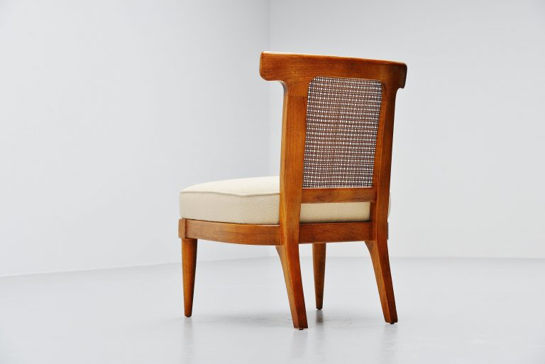 Italian walnut lounge chair Gio Ponti style Italy 1950