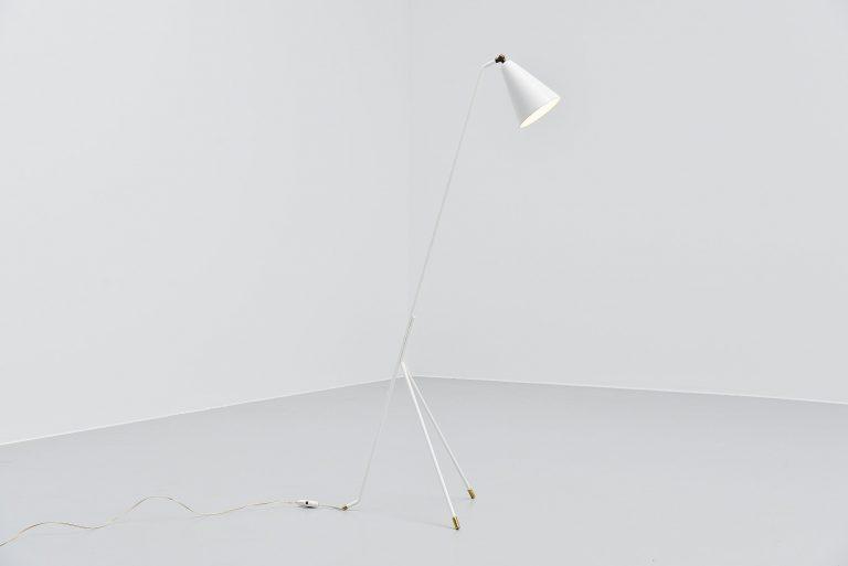 Svend Aage Holm-Sorensen floor lamp white Denmark 1950
