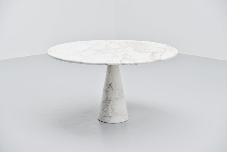 Angelo Mangiarotti M1 T70 dining table carrara marble Italy 1969