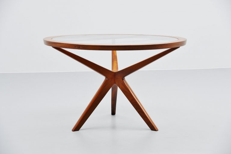 Illum Wikkelso attributed dining table Denmark 1960