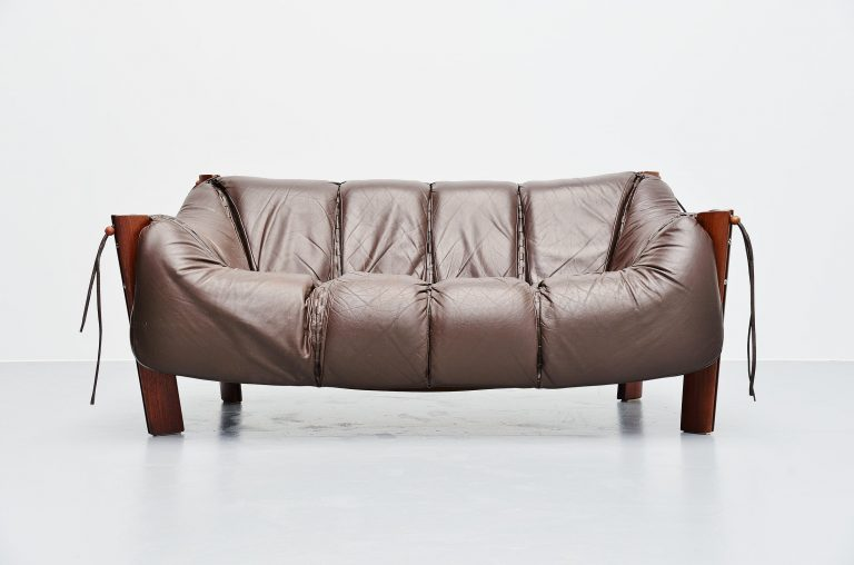 Percival lafer two-seat sofa in mahogany Brazil 1960