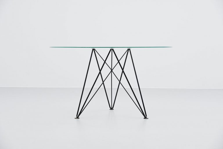 Els Staal wire frame dining table Holland 1976