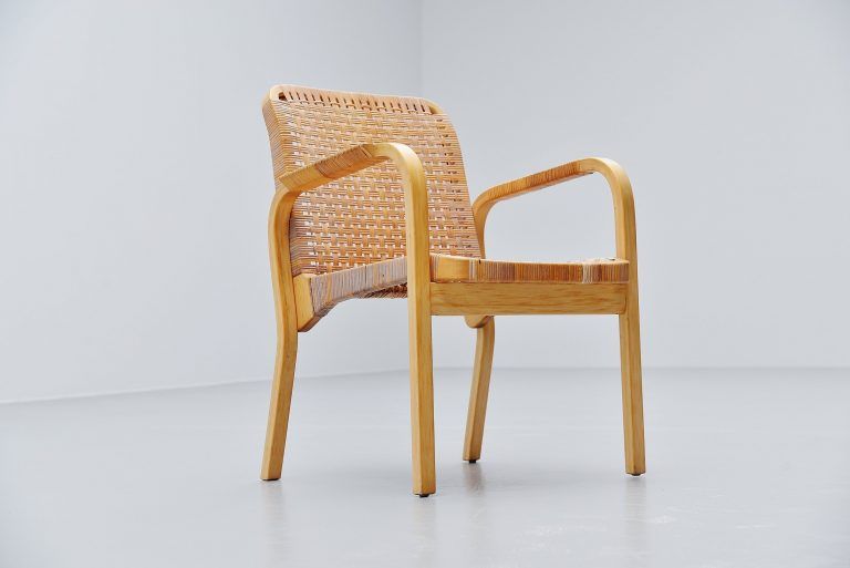 Alvar Aalto model 45 armchair cane Artek Finland 1947