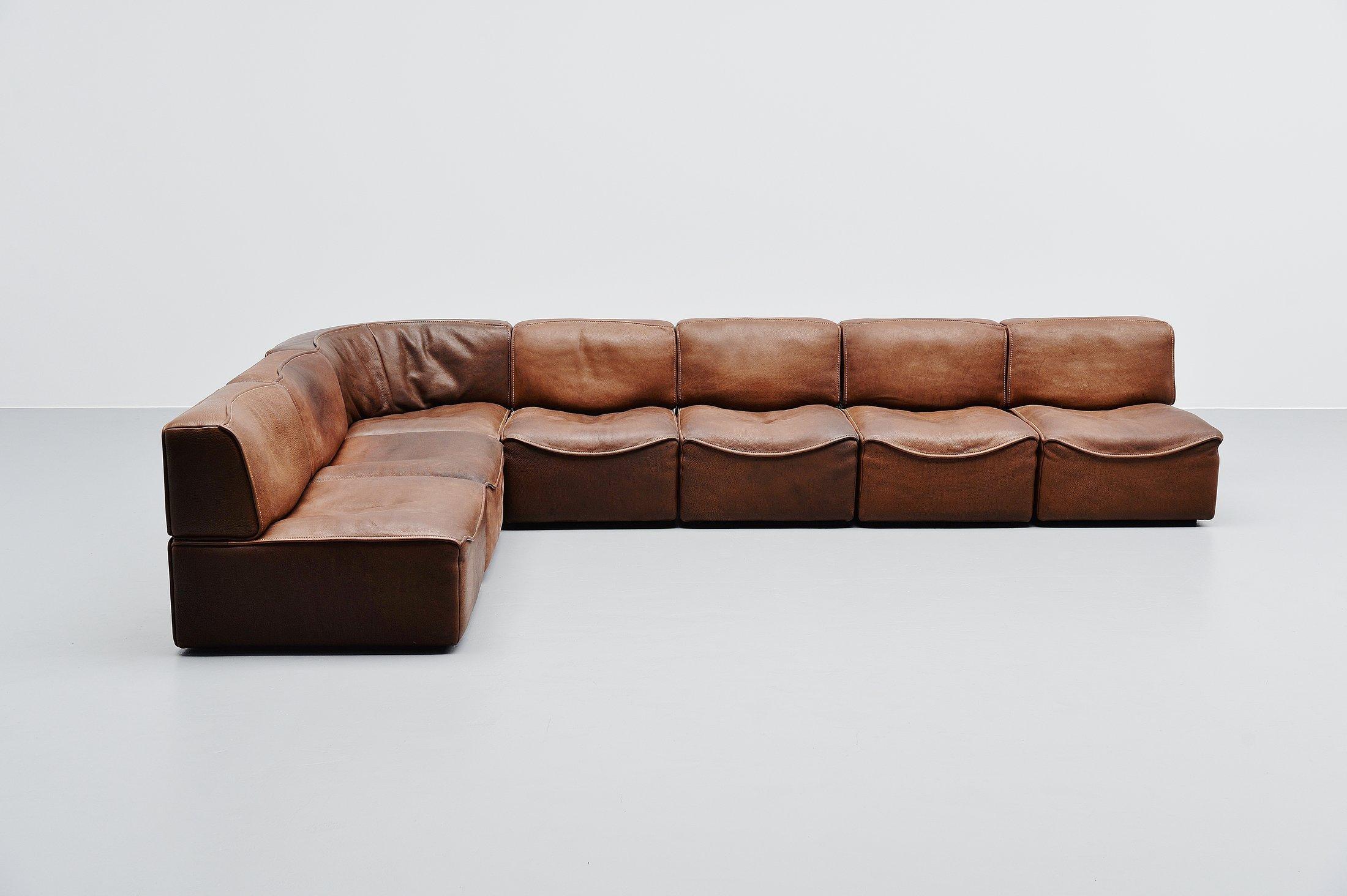 De Sede Ds15 Modular Sofa Brown Switzerland 1970