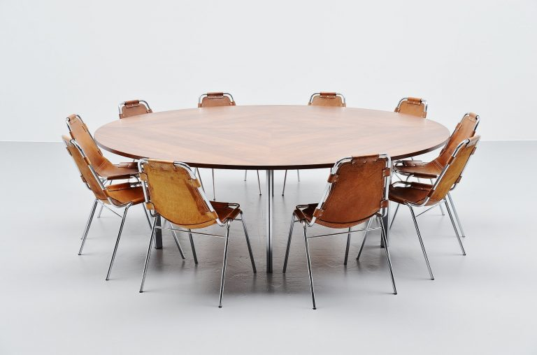 Large round conference table Florence Knoll International 1960