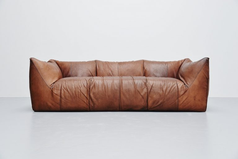 Mario Bellini Bambole sofa brown 2 B&B Italia Italy 1974