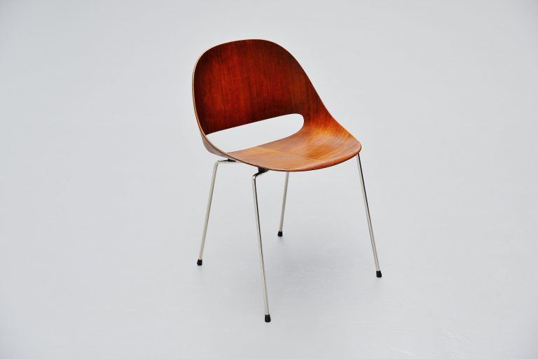 Leon Stynen SL85 side chair for Sope Finland 1958