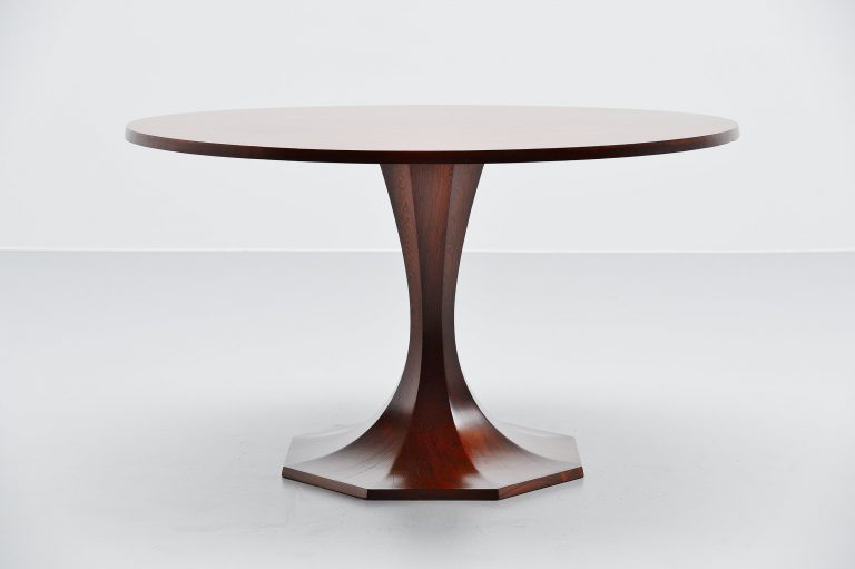Carlo de Carli rosewood dining table Italy 1950