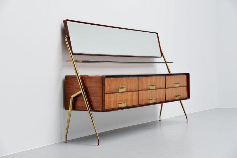 Silvio Cavatorta mirror sideboard Italy 1958