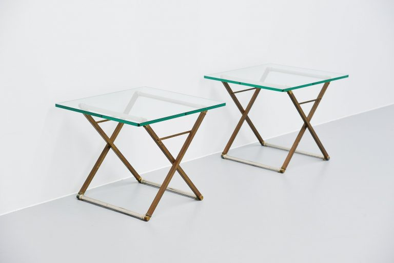 Peter Ghyczy pair of side tables Holland 1980