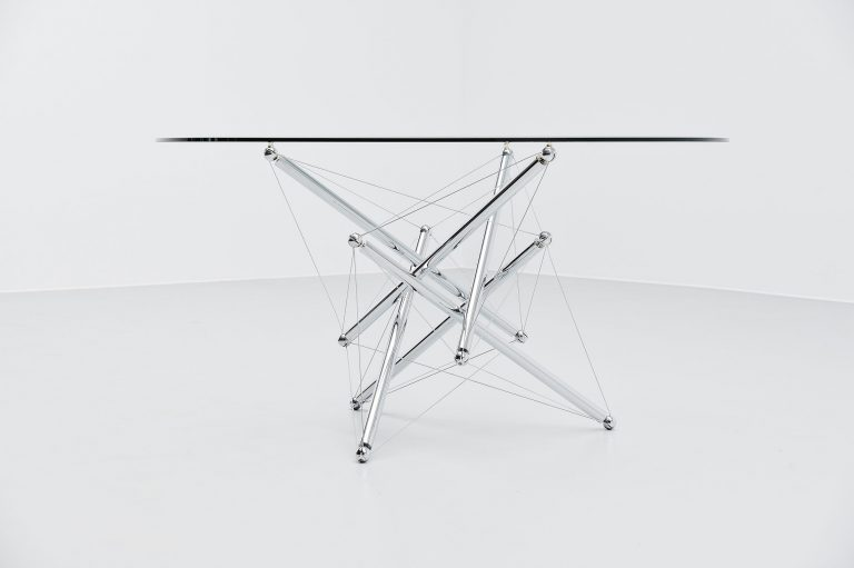 Theodore Waddell 714 dining table Cassina Italy 1973