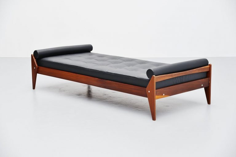 Vamo Sonderborg teak daybed leather mattress Denmark 1960