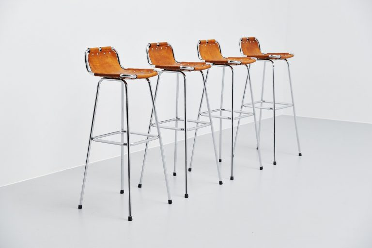 Les Arcs bar stools by Charlotte Perriand 4x France 1960