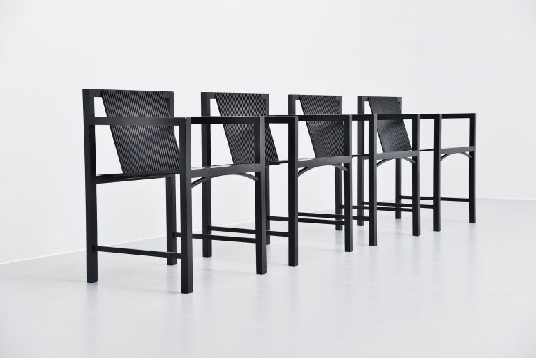 Ruud Jan Kokke dining armchairs for Metaform 1984