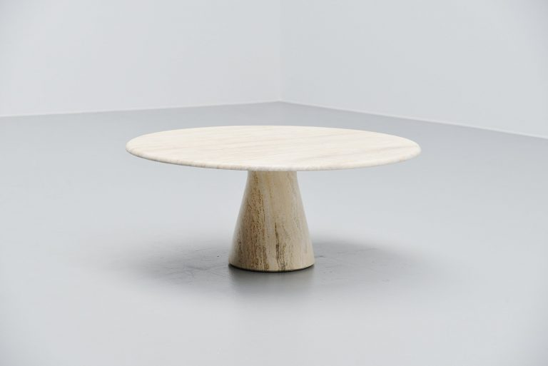 Travertine Up&Up coffee table Italy 1970 Angelo Mangiarotti