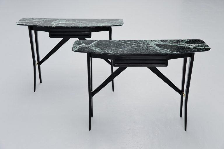Italian console table pair Ico Parisi style Italy 1950