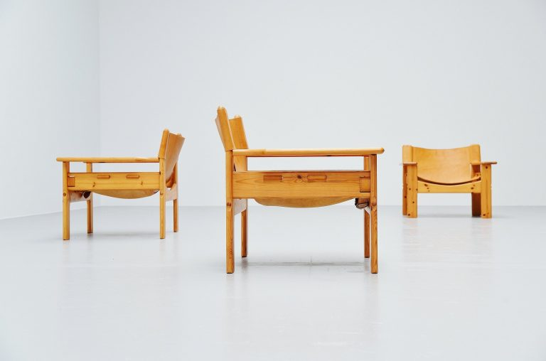 Spanish chairs in pine Borge Mogensen style Sweden 1960